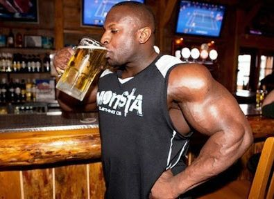 alcohol ganancias musculo