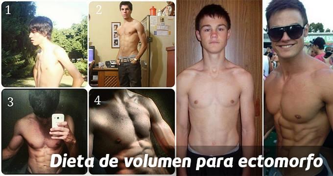 dieta de volumen para ectomorfos